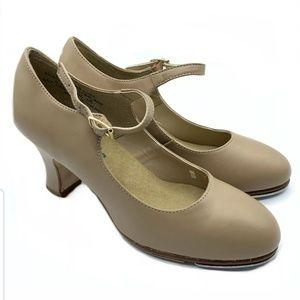 Capezio Tap Shoes Womens Size 6.5 M Caramel Nude